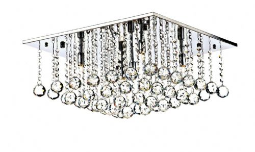 Abacus 5-light Polished Chrome Flush Ceiling Light ABA5050